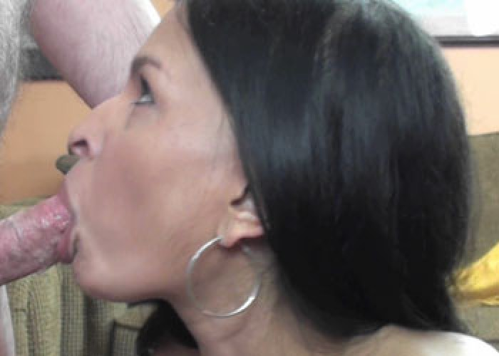 Naomi Shah goes down on a cock