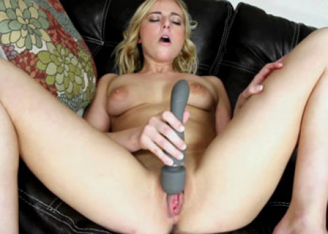 Kate England plays with her vibrator