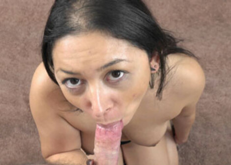 Stephanie Saint swallows a stiff cock